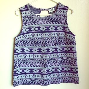 Old navy patterned sleeveless top